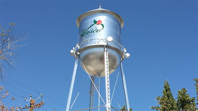 Famous Wasco, California water tower