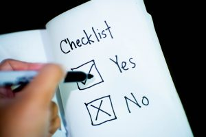Yes or no checklist on how to pick a bail bond company.