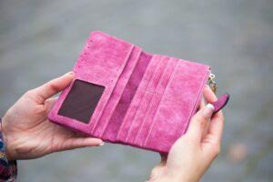 empty wallet with no money