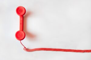 red phone and cord